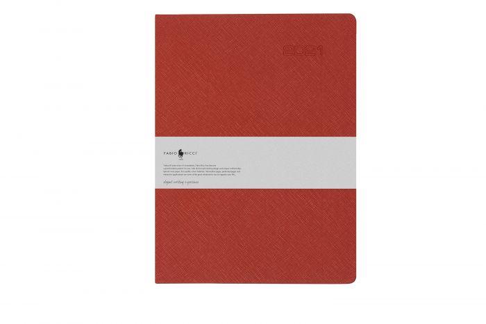 Fabio Ricci Lepidus 1035 19x25 Planlı Haftalık Kırmızı Ajanda