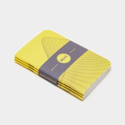 Wordnotebook 3'lü Cep Boy Digital Mountain Sarı Defter 9x14cm - Thumbnail