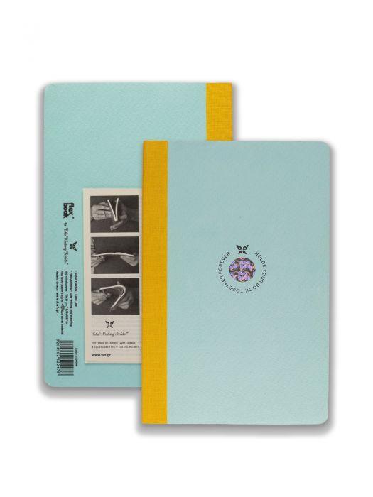 Flex Book Açık Mavi Smart Sarı Çizgili 13x21 cm