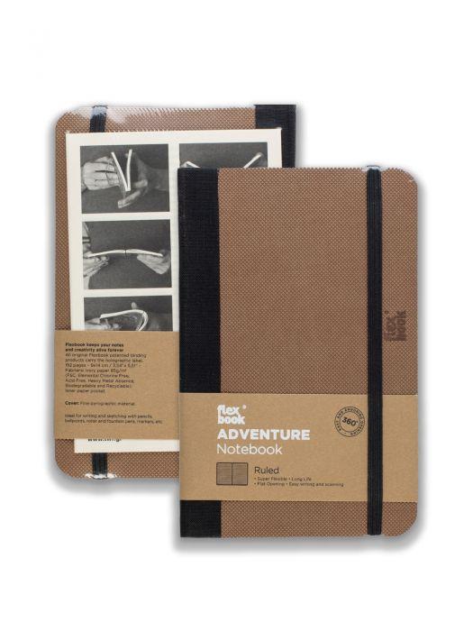 Flex Book Adventure Notebook Camel Çizgili 9x14 cm