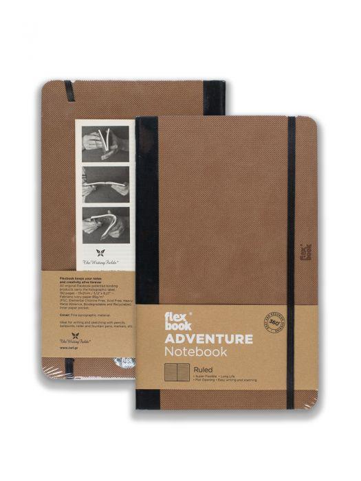Flex Book Adventure Notebook Camel Çizgili 13x21 cm