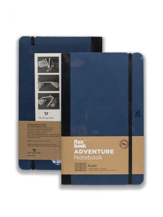 Flex Book Adventure Notebook Royal Blue Çizgili 13x21 cm