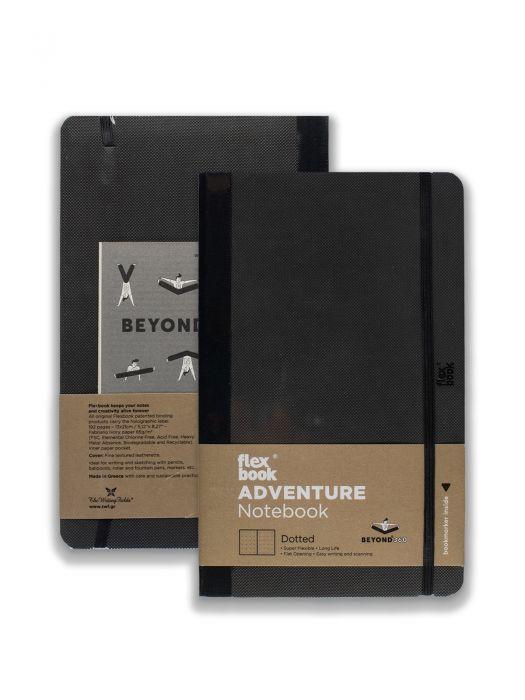 Flex Book Adventure Notebook Siyah Noktalı 13x21 cm