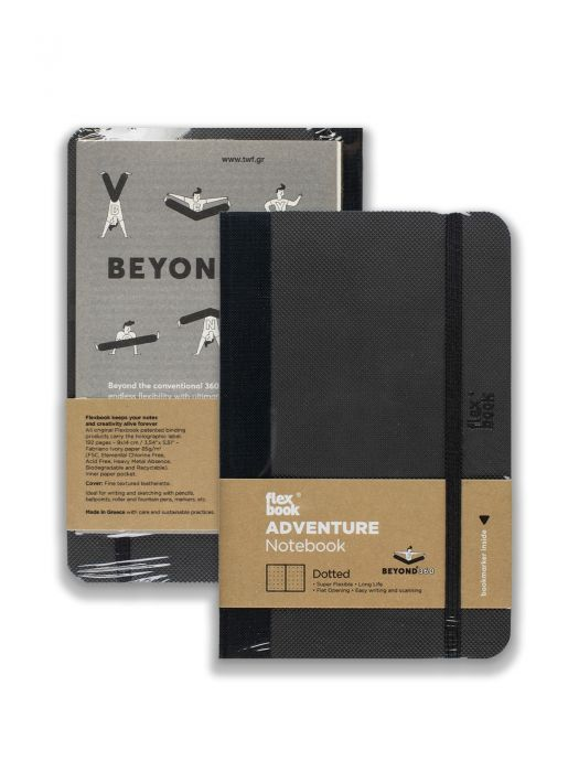 Flex Book Adventure Notebook Siyah Noktalı 9x14 cm