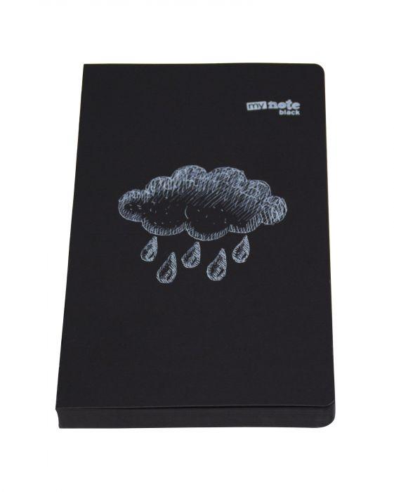 Mynote Siyah Çizgisiz 9x14 cm