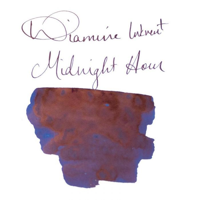Diamine Inkvent Sheen Midnight Hour Şişe Mürekkep 50 ml