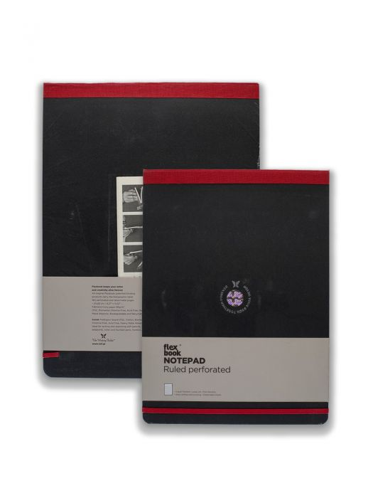 Flex Book Esnek Noteopad Kırmızı Şeritli Çizgili 10x17 cm