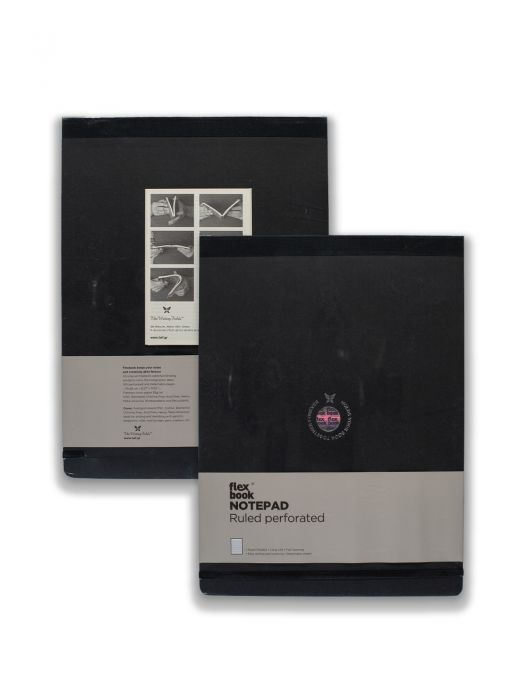 Flex Book Esnek Notepad Siyah Şeritli Çizgili 10x17 cm