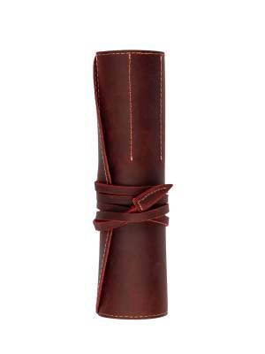 Vintage Design Kırmızı Deri Kalem Kılıfı - Thumbnail