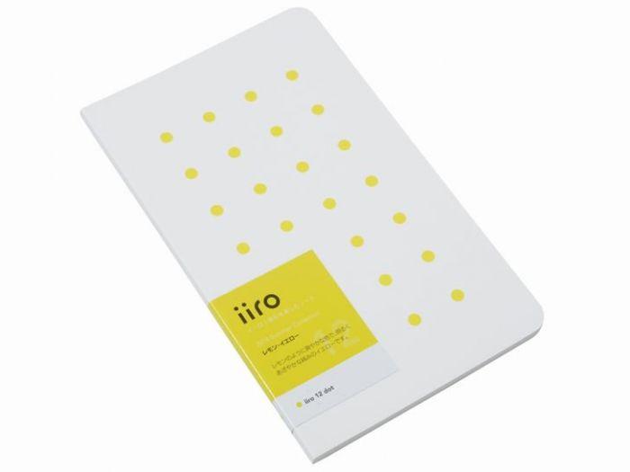 Kobeha Iiro 12 Lemon Yellow Dot Çizgili Defter