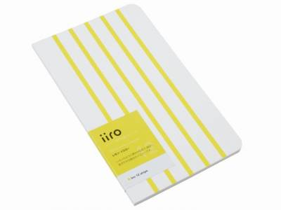 Kobeha Iiro 12 Lemon Yellow Stripe Çizgili Defter - Thumbnail
