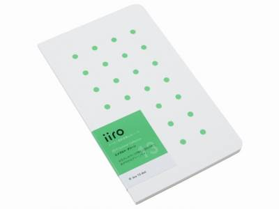 Kobeha Iiro 13 Emerald Green Dot Çizgili Defter - Thumbnail