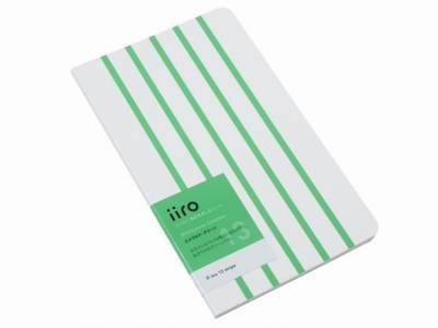Kobeha Iiro 13 Emerald Green Stripe Çizgili Defter - Thumbnail