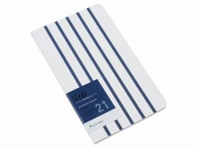 Kobeha Iiro 21 İndigo Stripe Çizgili Defter - Thumbnail