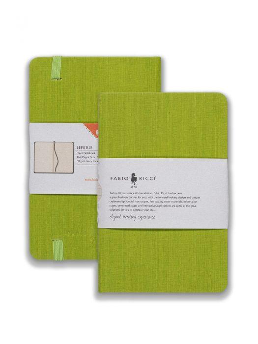 Fabio Ricci Lepidus Yeşil Çizgisiz 9x14 cm