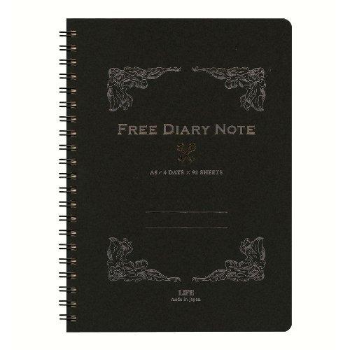 Life Free Diary A5 Telli Siyah Ajanda