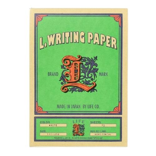 Life L.Writing Paper Yatay Çizgili Bloknot