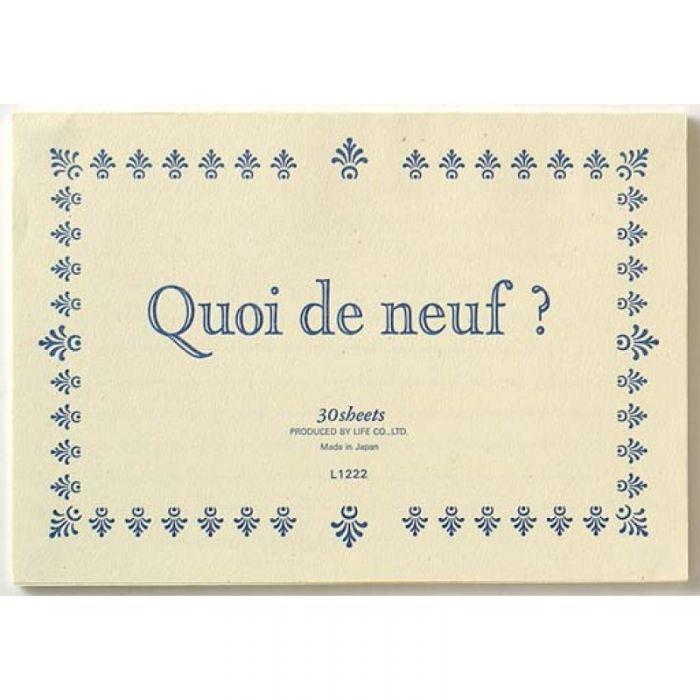 Life Quoi De Neuf? A5 Krem Bloknot