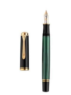 Pelikan M400 Yeşil Siyah M Dolma Kalem - Thumbnail