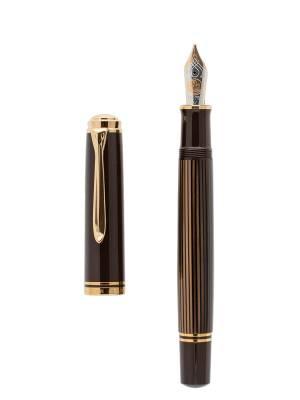 Pelikan M800 Kahve Siyah Dolma Kalem - Thumbnail