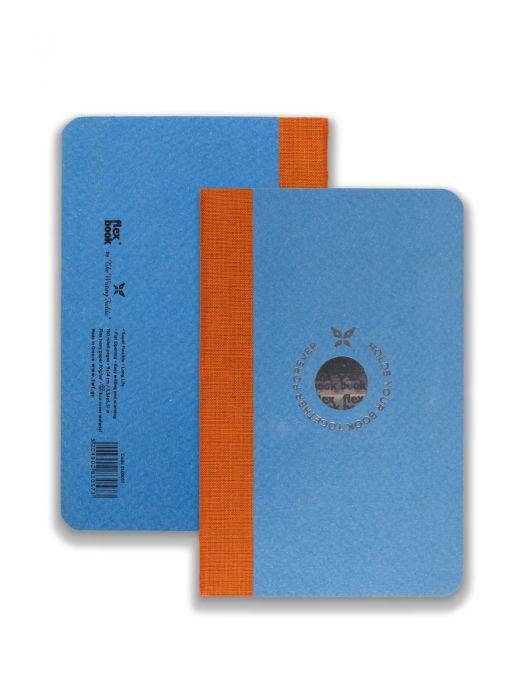 Flex Book Mavi Smart Turuncu Çizgili 9x14 cm