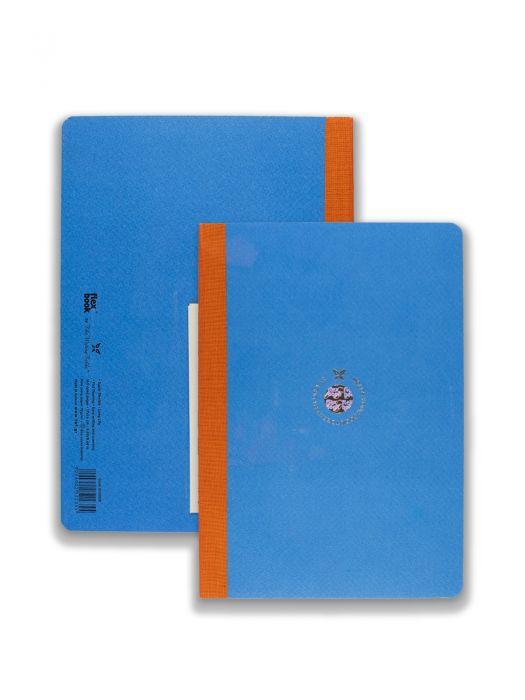 Flex Book Mavi Smart Turuncu Çizgili 17x24 cm