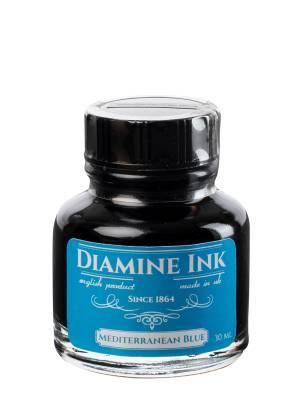 Diamine Mediterranean Blue Şişe Mürekkep 30 ml - Thumbnail