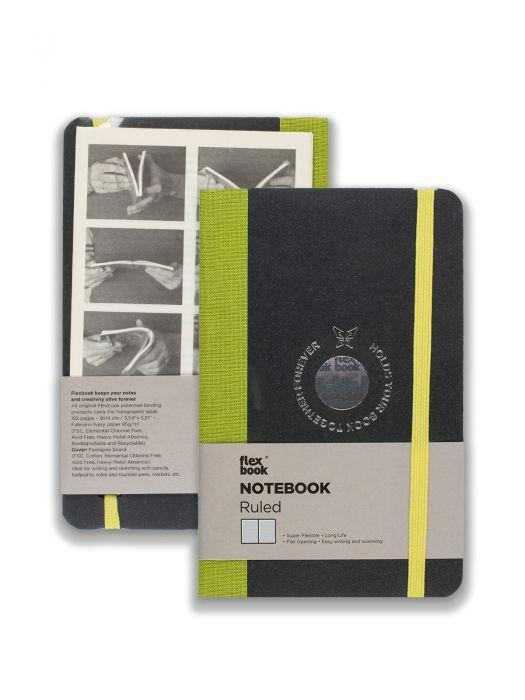 Flex Book Notebook Açık Yeşil Çizgili 9x14 cm