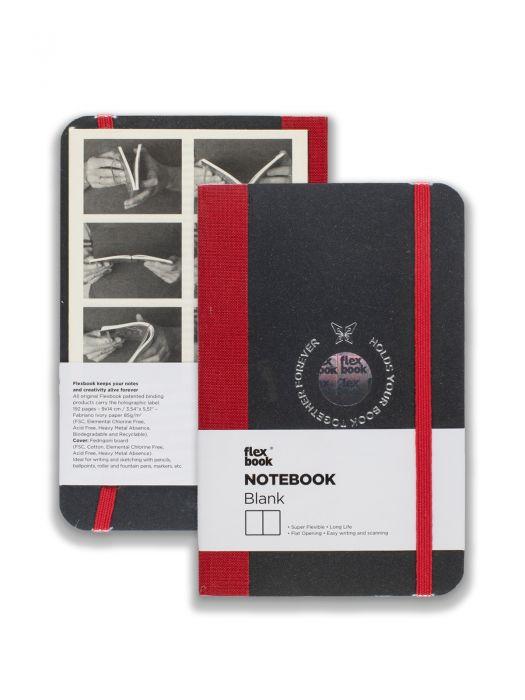 Flex Book Notebook Kırmızı Çizgisiz 9x14 cm
