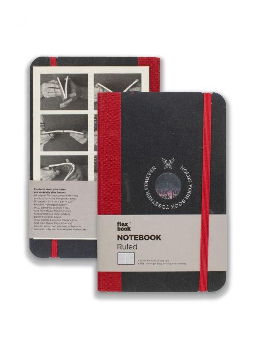 Flex Book Notebook Kırmızı Çizgili 9x14 cm