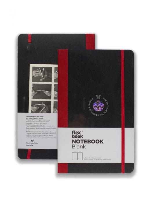 Flex Book Notebook Kırmızı Çizgisiz 13x21cm