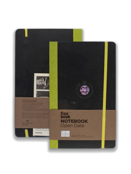 Flex Book Notebook Open Date Yeşil Çizgili 13x21 cm