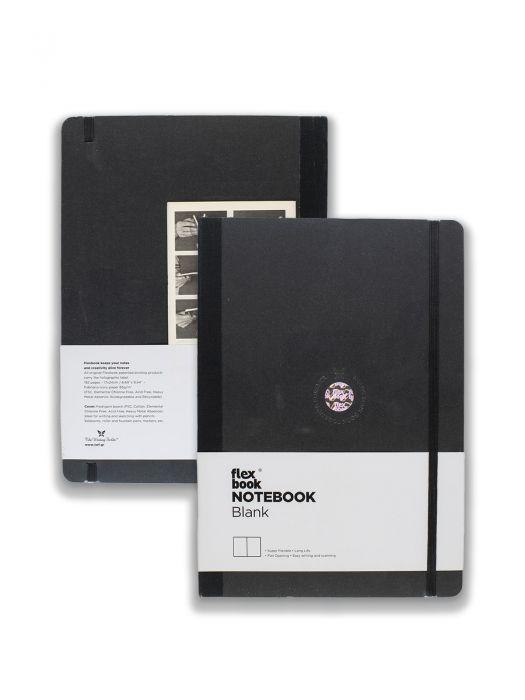 Flex Book Notebook Siyah Çizgisiz 17x24 cm