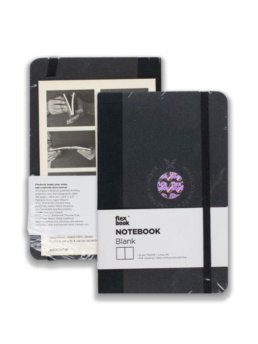 Flex Book Notebook Siyah Çizgisiz 9x14 cm
