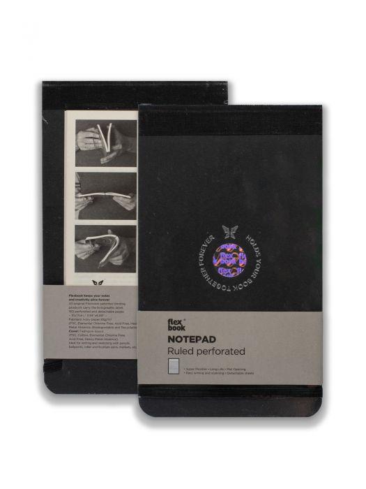 Flex Book Notepad Siyah Çizgili 21x28 cm