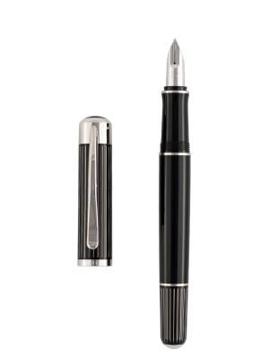 Pelikan P3100 Ductus Siyah Gümüş Dolma Kalem - Thumbnail