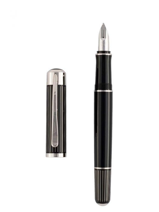 Pelikan P3100 Ductus Siyah Gümüş Dolma Kalem