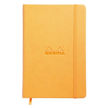 Rhodia Webnotebook A5 Deri Kapak Turuncu Çizgisiz Defter - Thumbnail