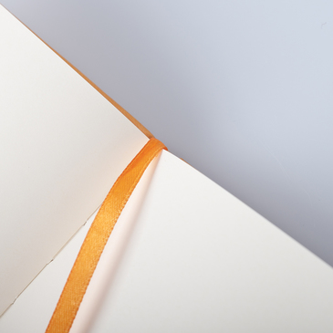 Rhodia Webnotebook A5 Deri Kapak Turuncu Çizgisiz Defter