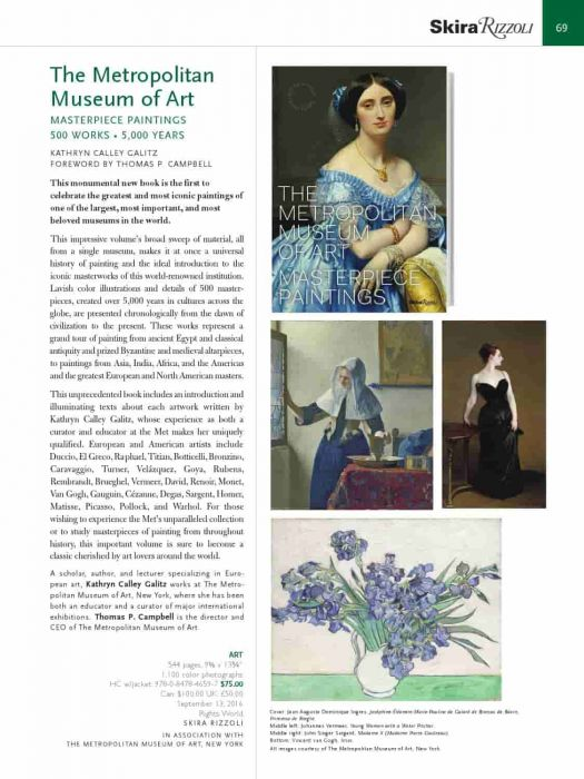 Rizzoli Newyork Electa The Metropolitan Museum of Art Masterpiece Paintings