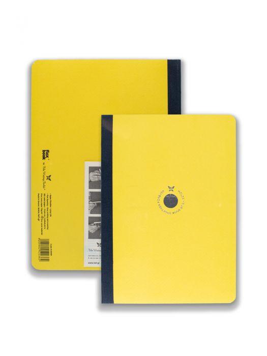 Flex Book Sarı Smart Mavi Çizgili 17x24 cm