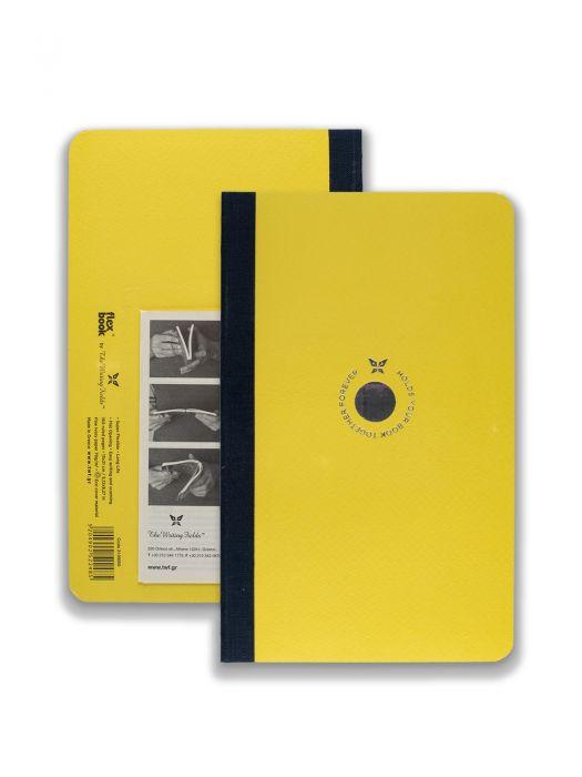 Flex Book Sarı Smart Siyah Çizgili 13x21cm