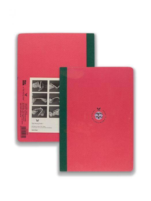 Flex Book Smart Pembe Yeşil Çizgili 17x24 cm