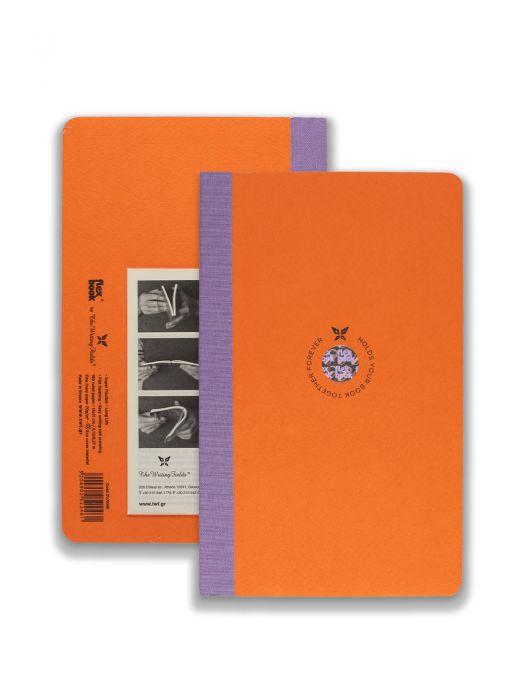 Flex Book Turuncu Smart Mor Çizgili 13x21cm