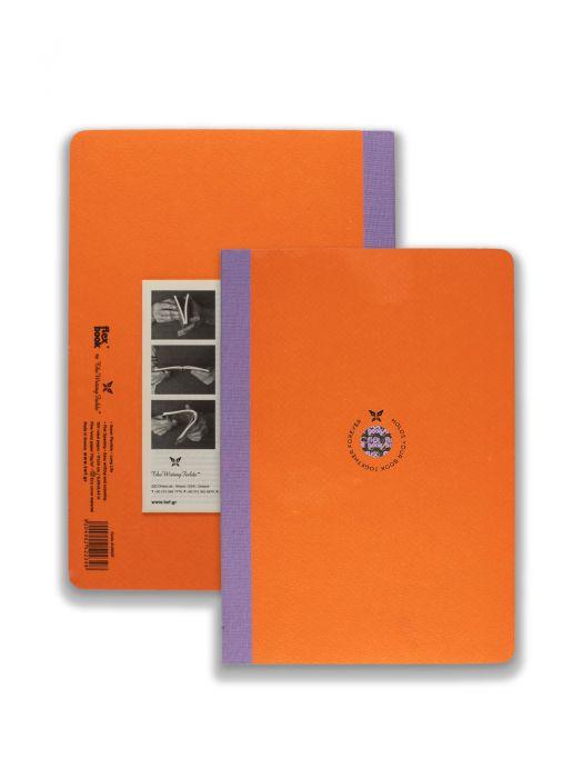 Flex Book Turuncu Smart Mor Çizgili17x24 cm