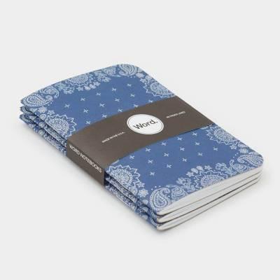 Wordnotebook 3'lü Cep Boy Blue Bandana Çizgili Defter 9x14cm - Thumbnail