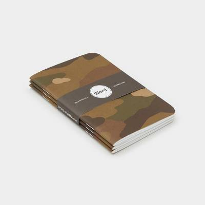 Wordnotebook 3'lü Cep Boy Camo Kamuflaj Çizgili Defter 9x14cm - Thumbnail
