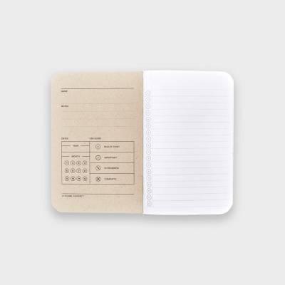 Wordnotebook 3'lü Cep Boy Checkerboard Damalı Çizgili Defter 9x14cm - Thumbnail