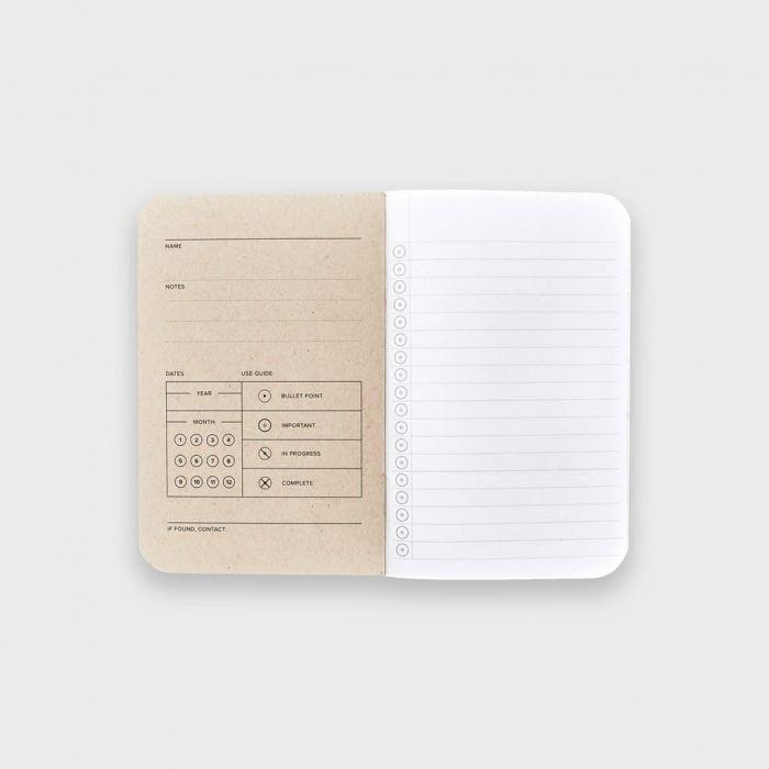 Wordnotebook 3'lü Cep Boy Checkerboard Damalı Çizgili Defter 9x14cm
